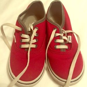 Toddler Vans Red Size 8.5